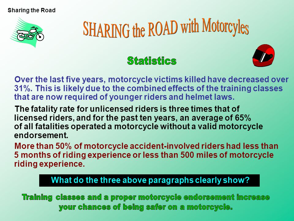 While everyone must follow the same traffic laws, motorcyclists face unusual dangers because they are hard to see and the motorcycle requires exceptio