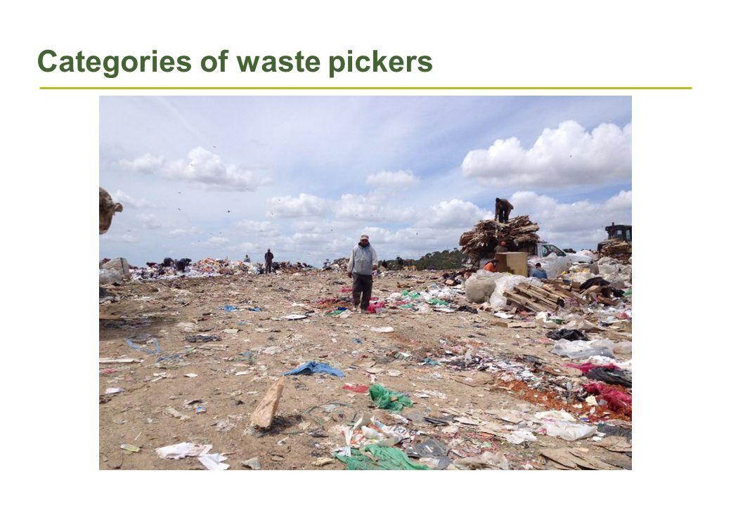 Categories of waste pickers