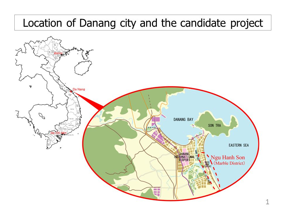 Location of Danang city and the candidate project 1