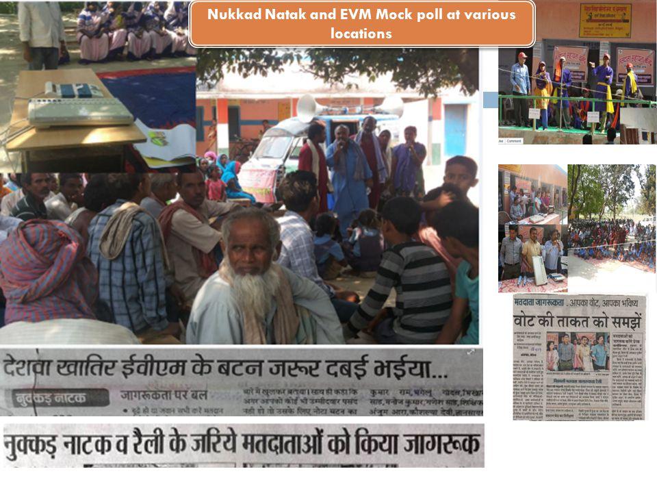 Nukkad Natak and EVM Mock poll at various locations