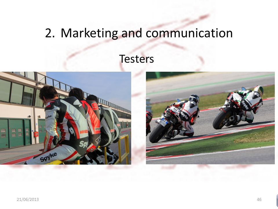 2.Marketing and communication Testers 21/06/201346