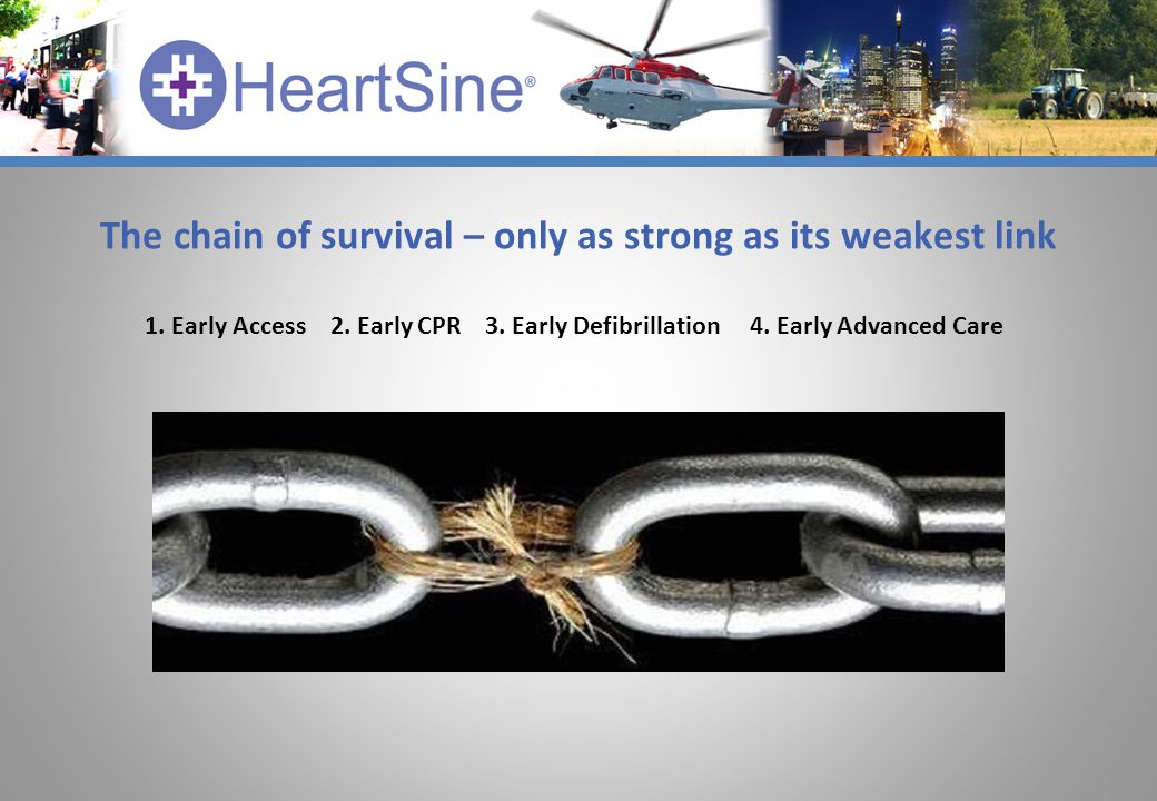 The chain of survival – only as strong as its weakest link 1.