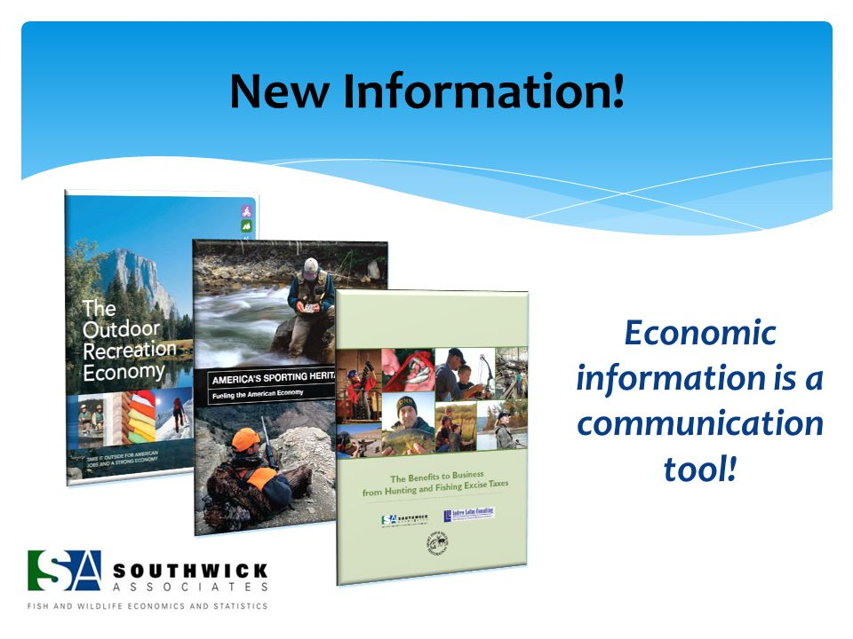 New Information! Economic information is a communication tool!