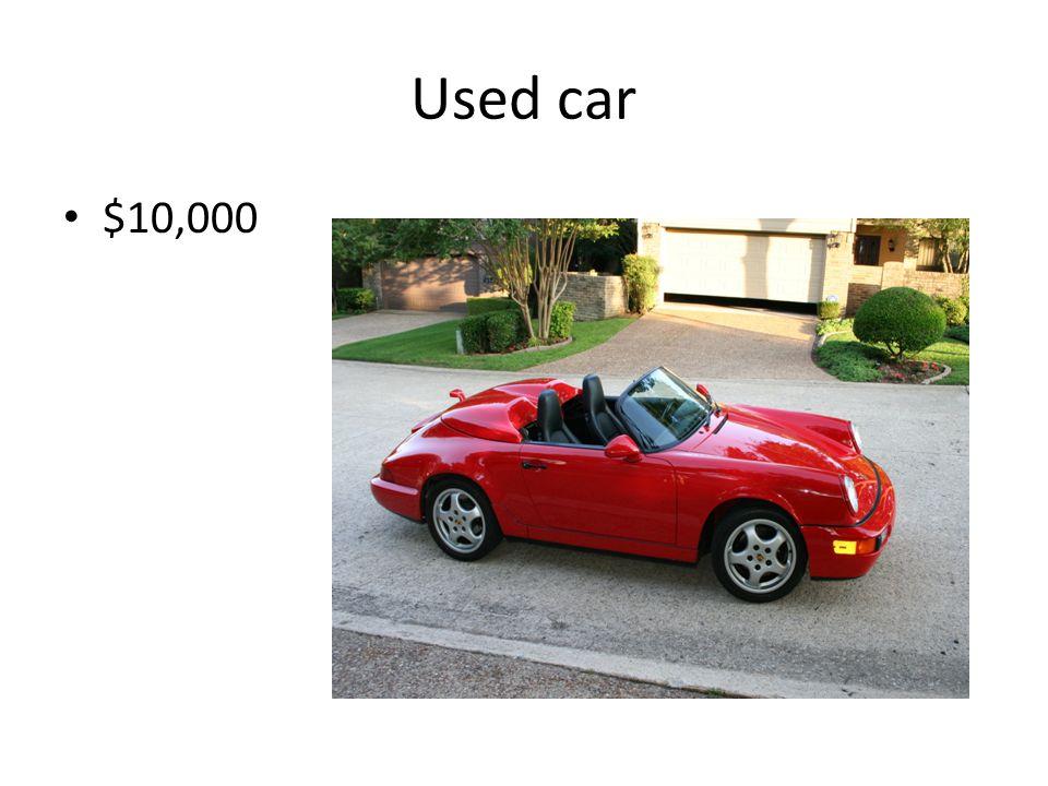 Used car $10,000