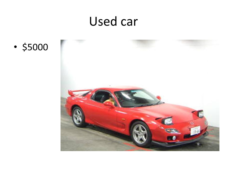 Used car $5000