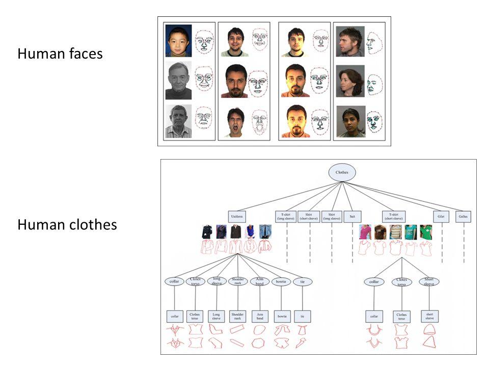 Human faces Human clothes