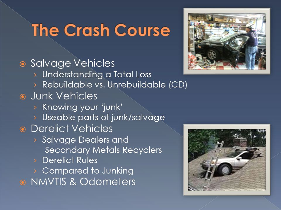 Salvage Vehicles › Understanding a Total Loss › Rebuildable vs.