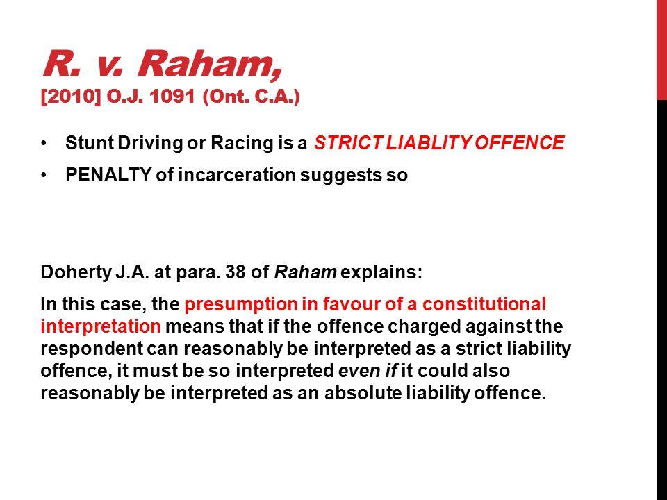 R. v. Raham, [2010] O.J. 1091 (Ont.