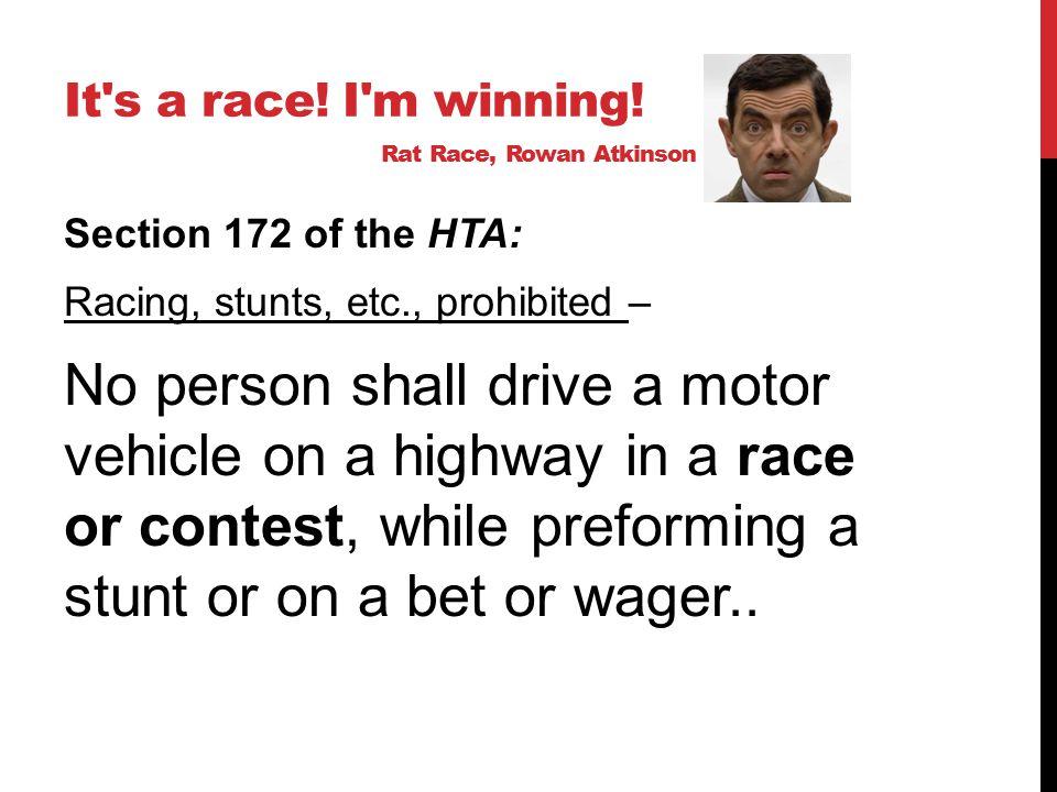 RACE OR CONTEST… Ont.Reg.