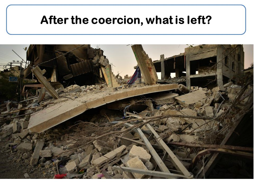After the coercion, what is left?