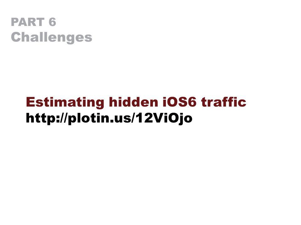 PART 6 Challenges Estimating hidden iOS6 traffic http://plotin.us/12ViOjo