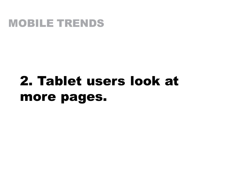 2. Tablet users look at more pages.