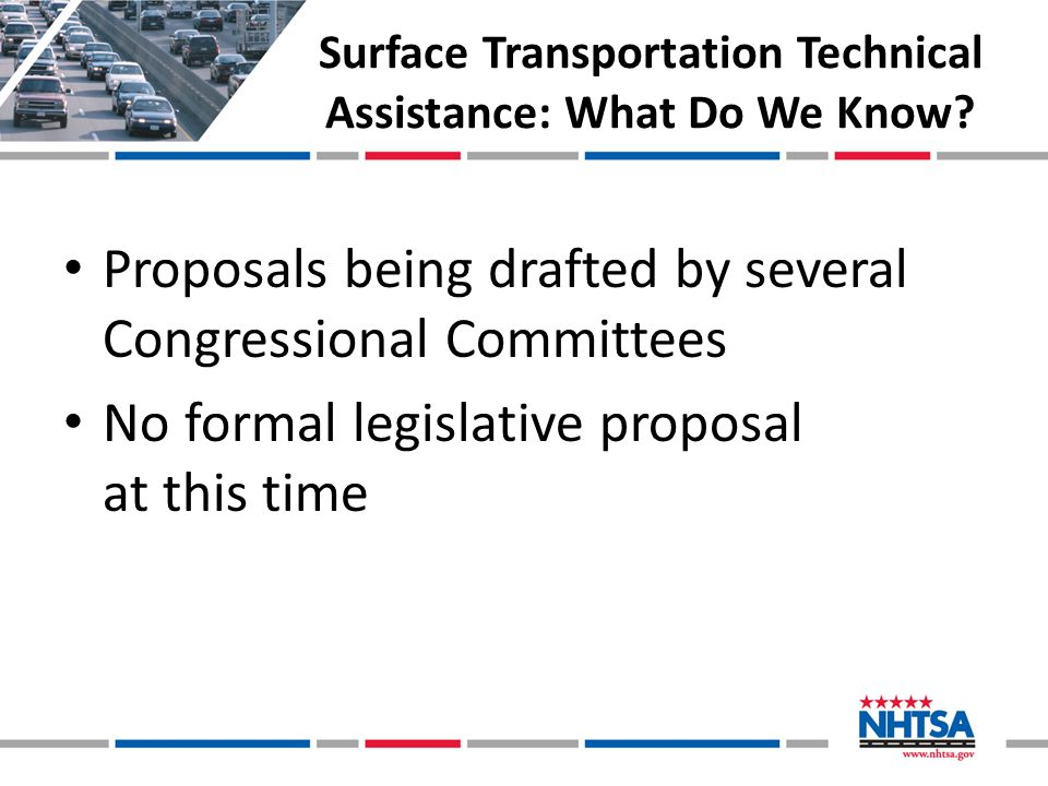 Surface Transportation Technical Assistance: What Do We Know.