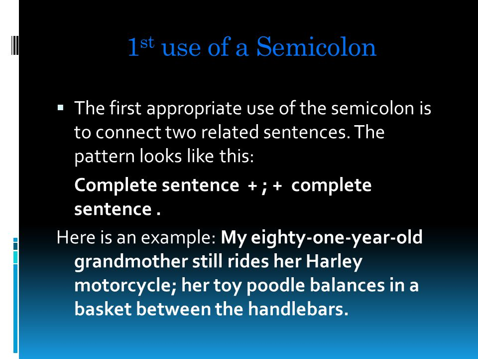 Introduction to Semicolons & Colons https://www.youtube.com/watch v=m3cKL tOpKkg
