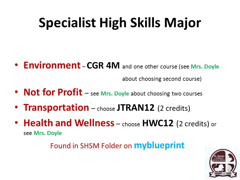 Environment – CGR 4M and one other course (see Mrs.