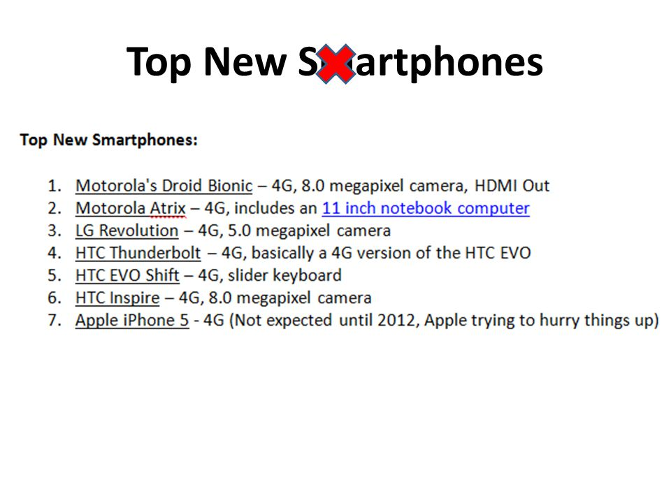 Top New Smartphones