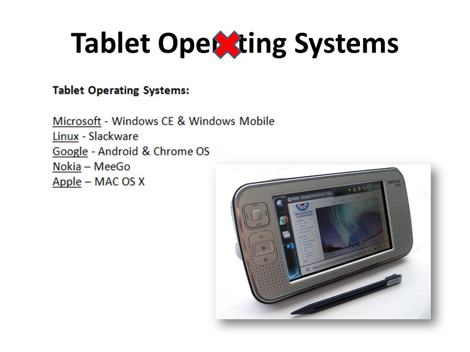 Tablet Operating Systems