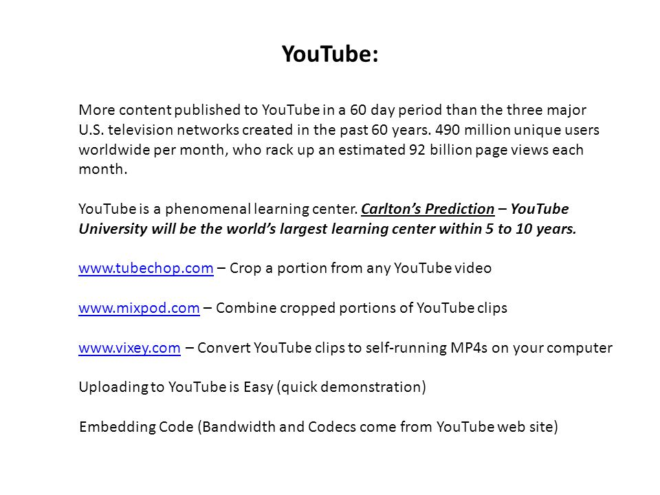 YouTube: More content published to YouTube in a 60 day period than the three major U.S.
