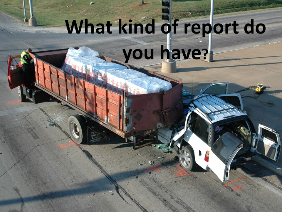 What kind of report do you have ?