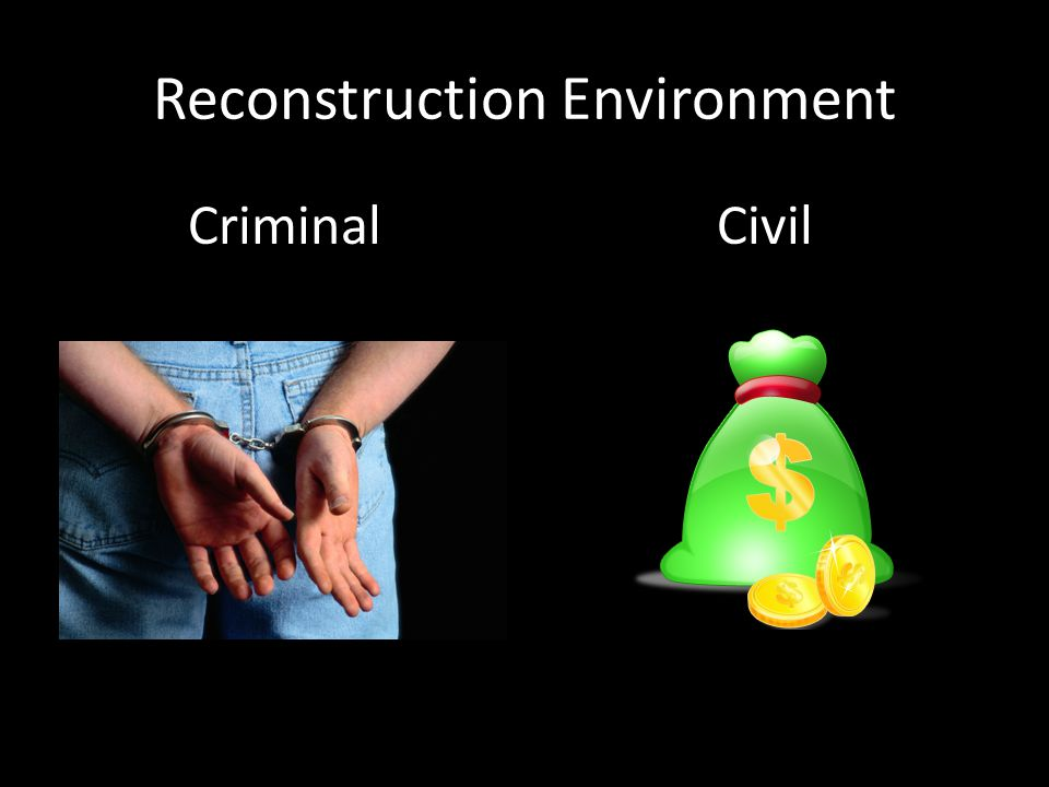 Reconstruction Environment CriminalCivil