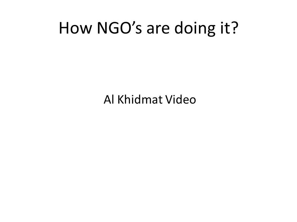 How NGO's are doing it? Al Khidmat Video