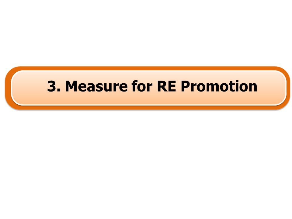 3. Measure for RE Promotion