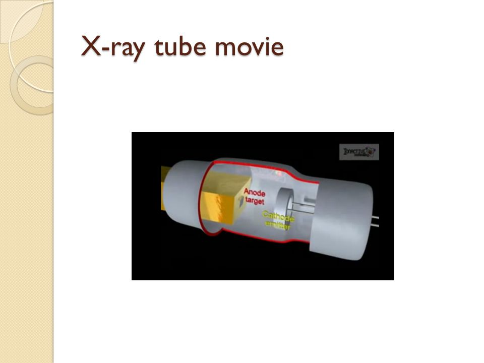 X-ray tube movie