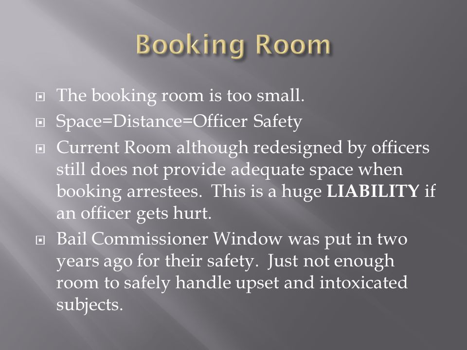  The booking room is too small.