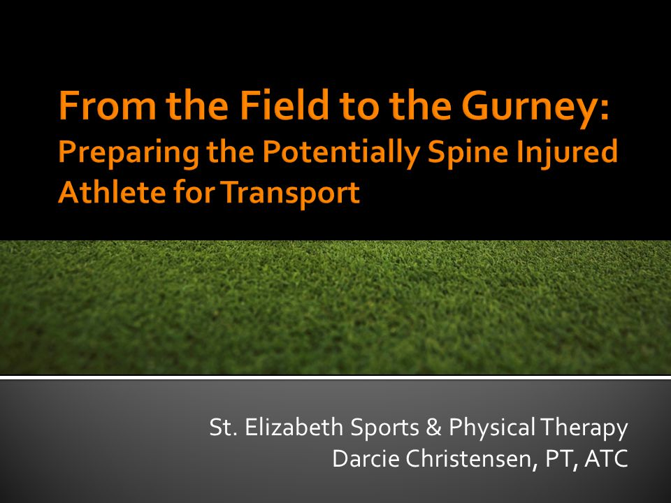 St. Elizabeth Sports & Physical Therapy Darcie Christensen, PT, ATC