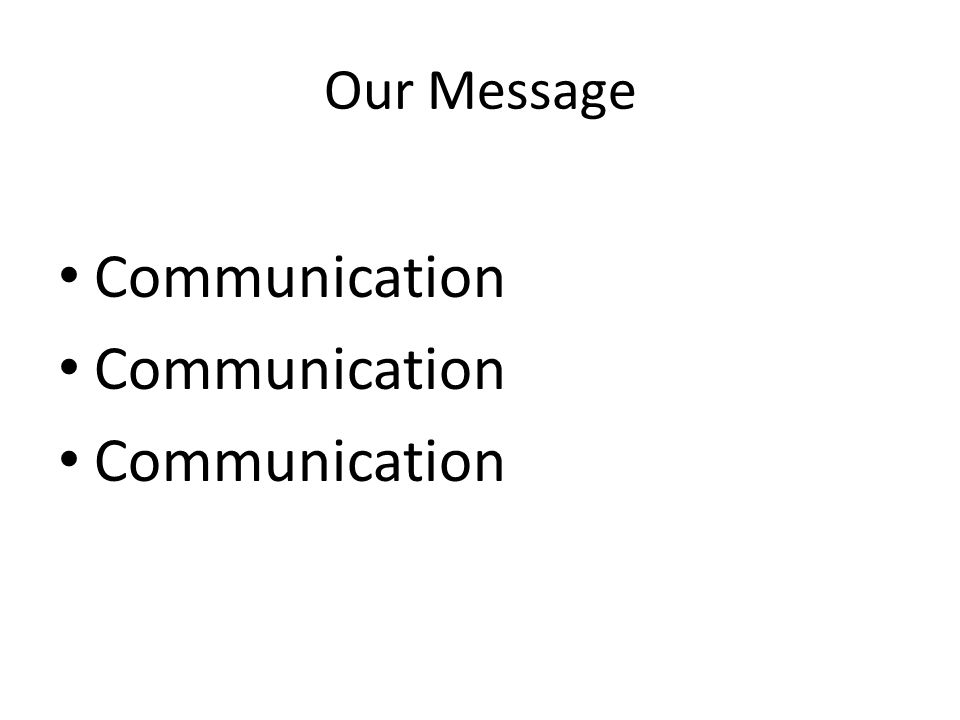 Our Message Communication