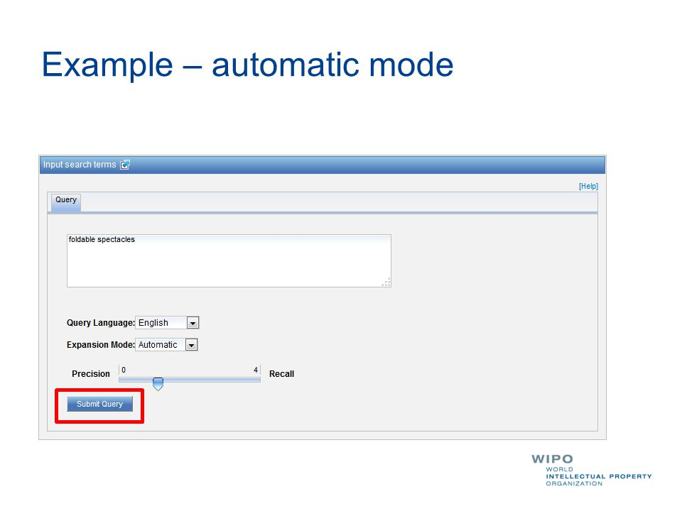 Example – automatic mode