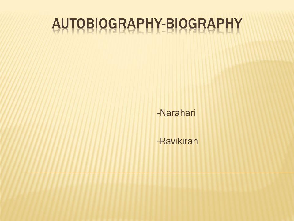 Autobiography Biography ?? ??