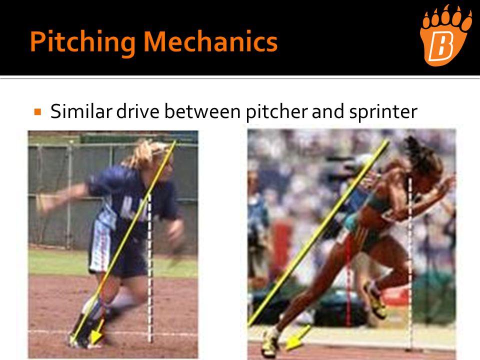  Similar drive between pitcher and sprinter