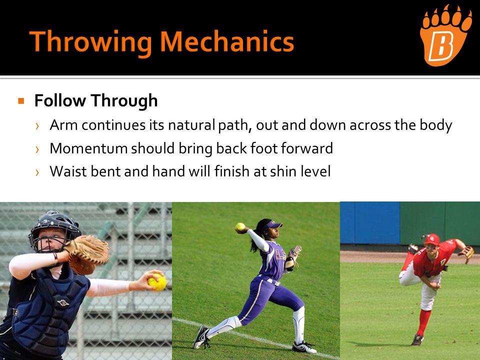  Rounding Bases › Inside shoulder lines up with outside corner of the base › Angle to hit the inside corner of the base ›Body lean inside ›Arms are important › NO BANANAs › Round with Intent to go to 2 nd ›Stay only if defense stops you ›Stay athletic, open to the ball