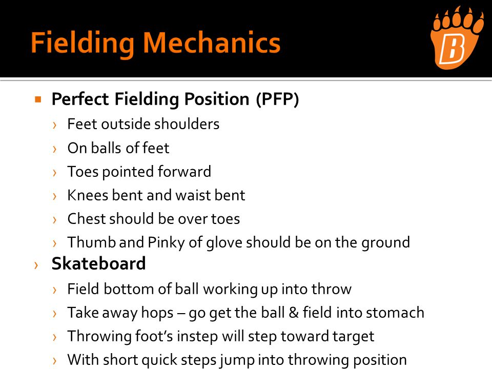 Leads from 1 st Base › 3 step lead › Stay athletic – ready to dive back › Feet should keep moving ›No concrete leads › Get away from base on pop flies – let ball dictate  Leads from 2nd Base › 5 Step lead – longer throw from catcher › Scoring position › Freeze on line drives and immediately retreat on pop flies ›Including foul balls