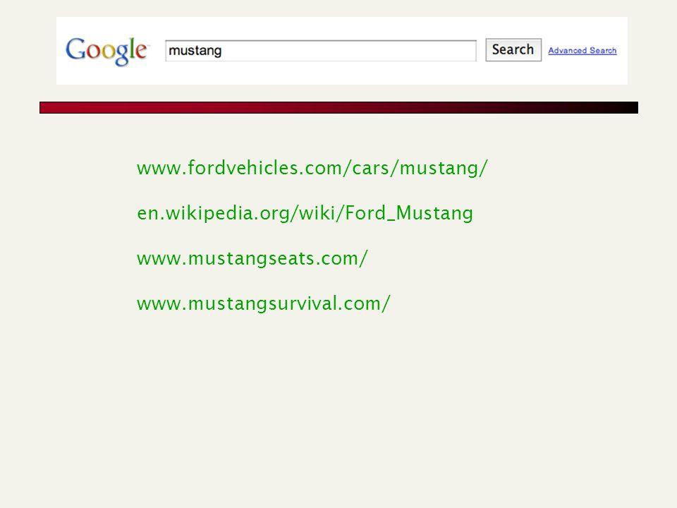 www.fordvehicles.com/cars/mustang/ en.wikipedia.org/wiki/Ford_Mustang www.mustangseats.com/ www.mustangsurvival.com/
