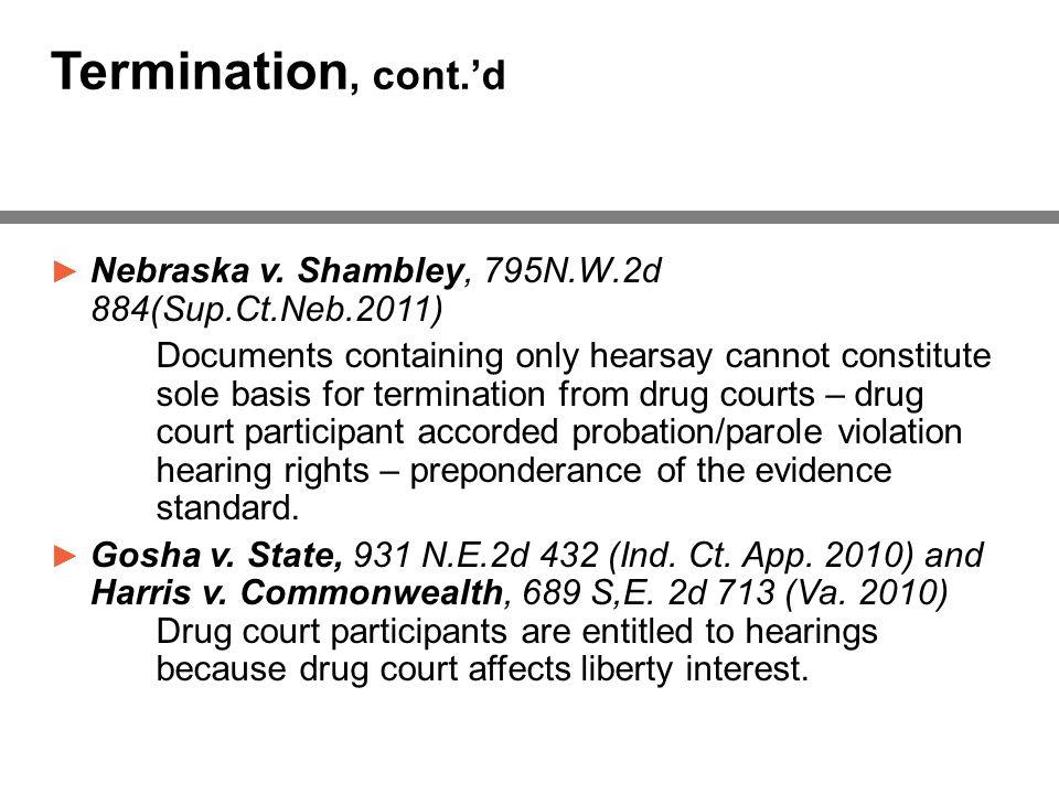 Termination, cont.'d ► Nebraska v.