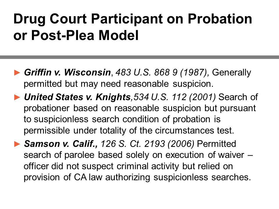 Drug Court Participant on Probation or Post-Plea Model ► Griffin v.