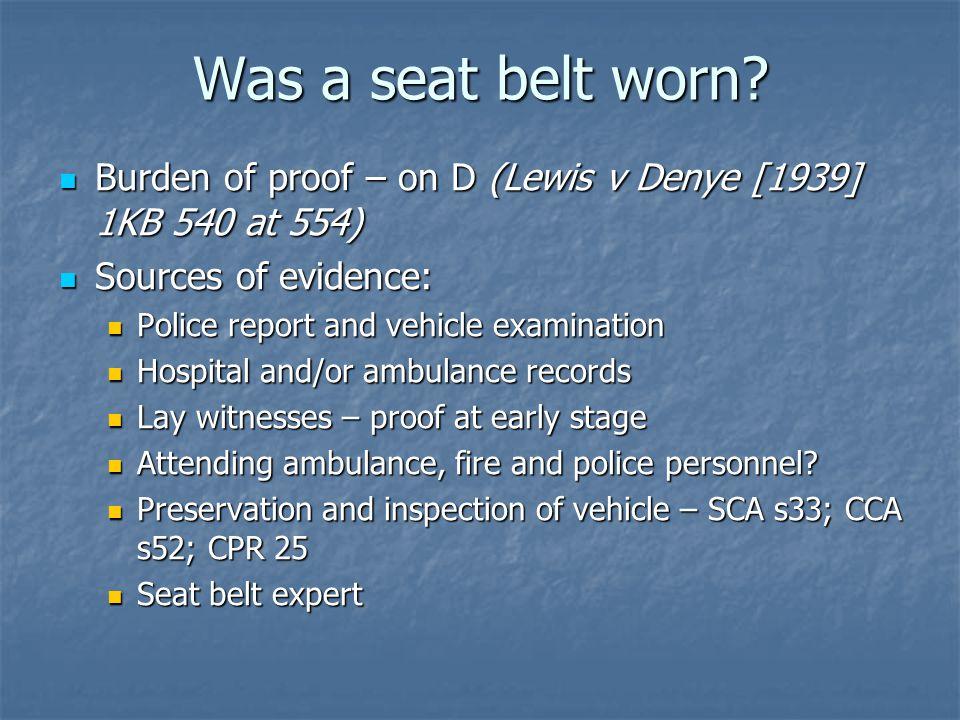 Was a seat belt worn.