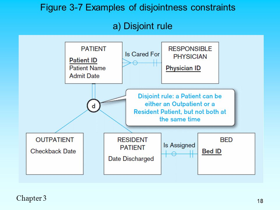 Chapter 3 18 a) Disjoint rule Figure 3-7 Examples of disjointness constraints