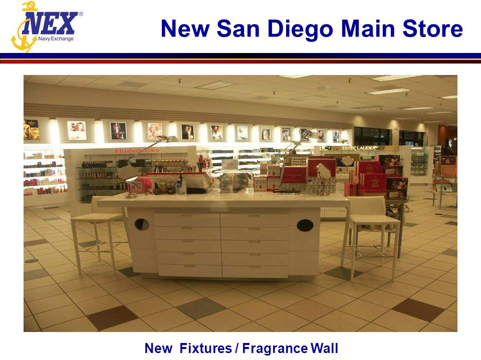 New Fixtures / Fragrance Wall New San Diego Main Store