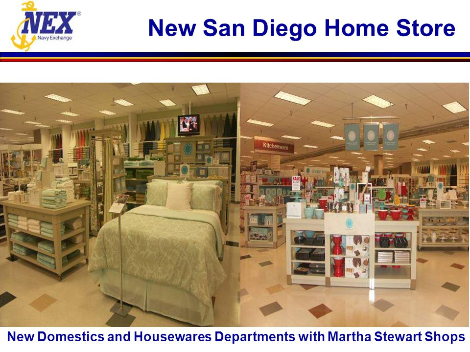 New Domestics and Housewares Departments with Martha Stewart Shops New San Diego Home Store