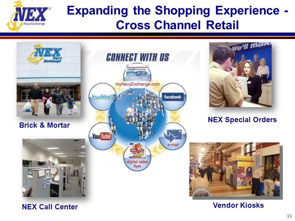 33 NEX Special Orders Expanding the Shopping Experience - Cross Channel Retail NEX Call Center Brick & Mortar Vendor Kiosks