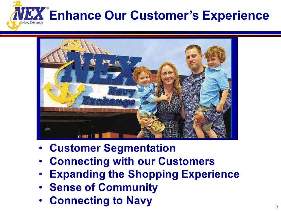5 Enhance Our Customer's Experience Customer Segmentation Connecting with our Customers Expanding the Shopping Experience Sense of Community Connectin