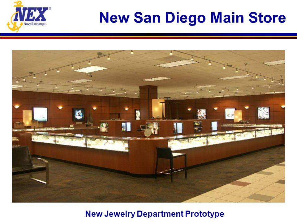 New Jewelry Department Prototype New San Diego Main Store