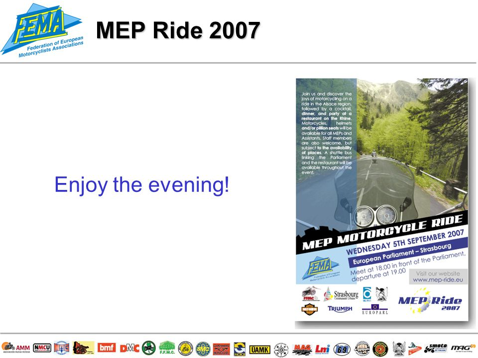 16/ Enjoy the evening! MEP Ride 2007