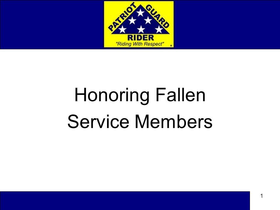 1 Honoring Fallen Service Members
