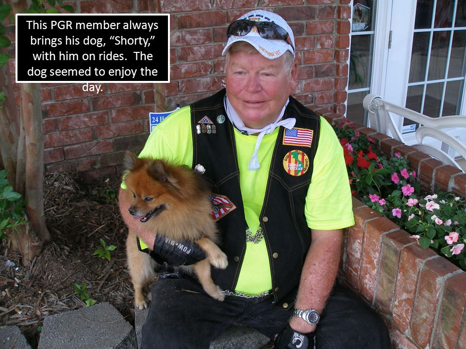"This PGR member always brings his dog, ""Shorty,"" with him on rides. The dog seemed to enjoy the day."