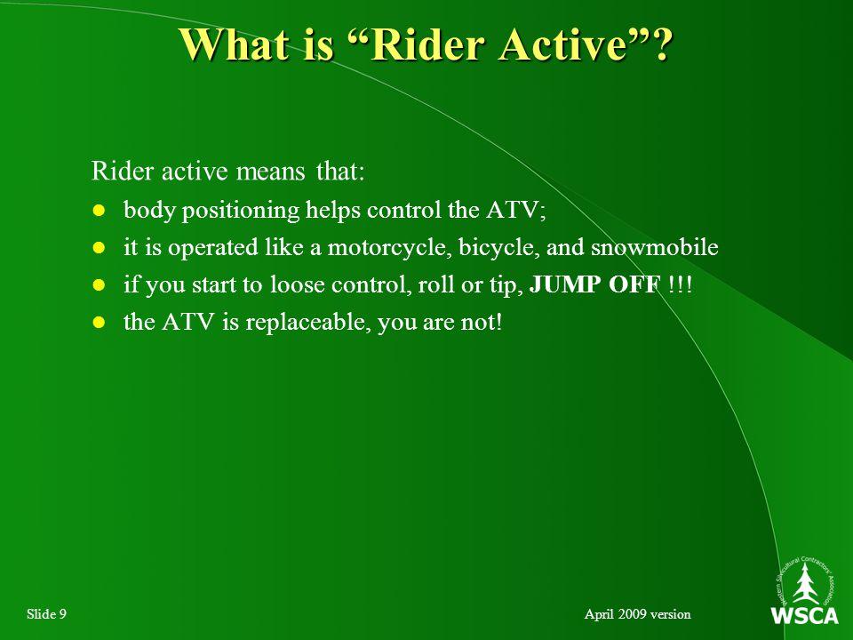 Slide 30April 2009 version ATV Mechanism