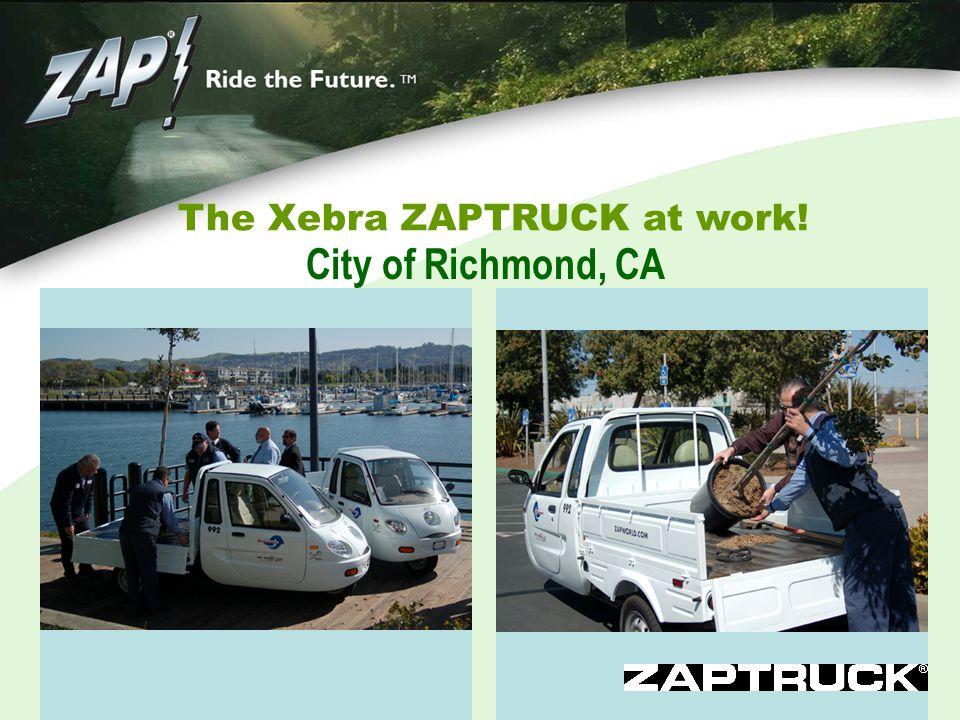 The Xebra ZAPTRUCK at work! City of Richmond, CA